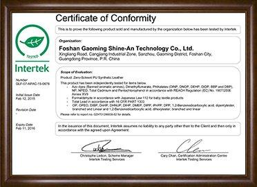 Green leaf certification