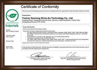 Green leaf certification