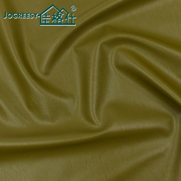 Small olive green folds PU leather for jacket 0.6SA13643