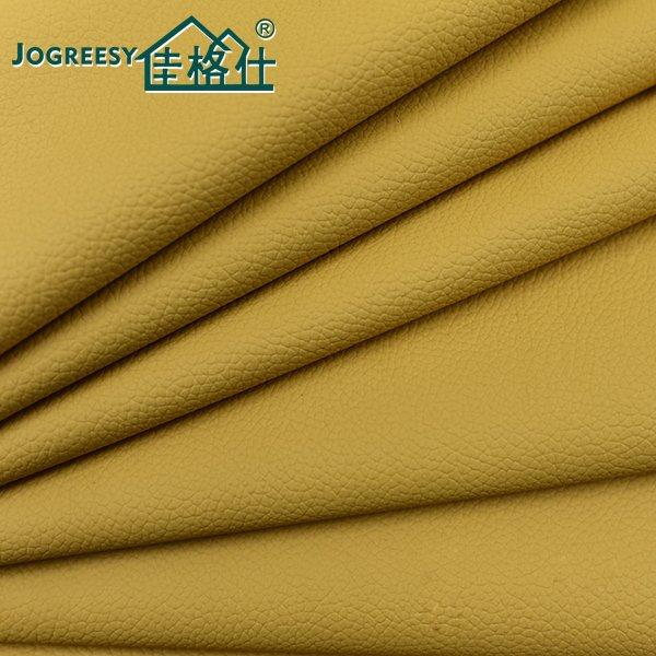 Yellow grain PU leather for car seat cover 1.1SA49355F