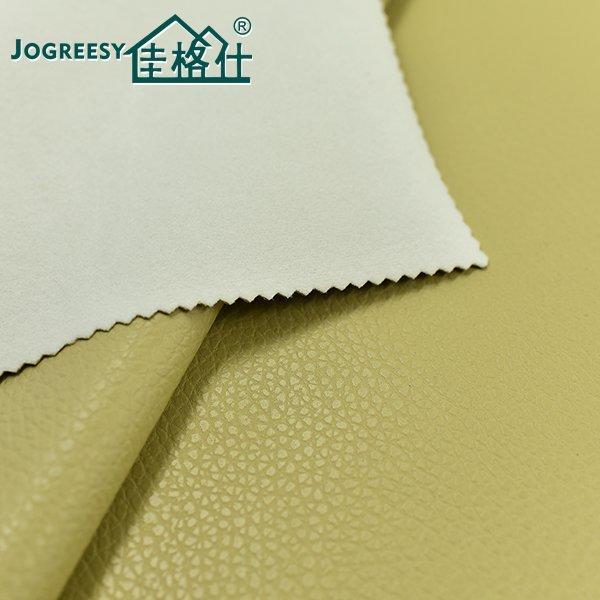 Beige three-dimensional pattern PU leather 1.1SA55337F