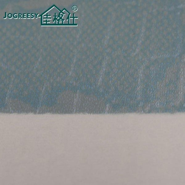 Light blue printing embossing luggage leather